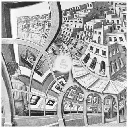 Рис. 4. Эшер. Картинная галерея