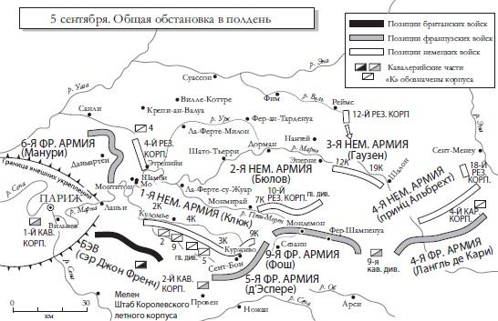 Ris. 6. Bitva na Marne 5 10 sentyabrya 1914 g