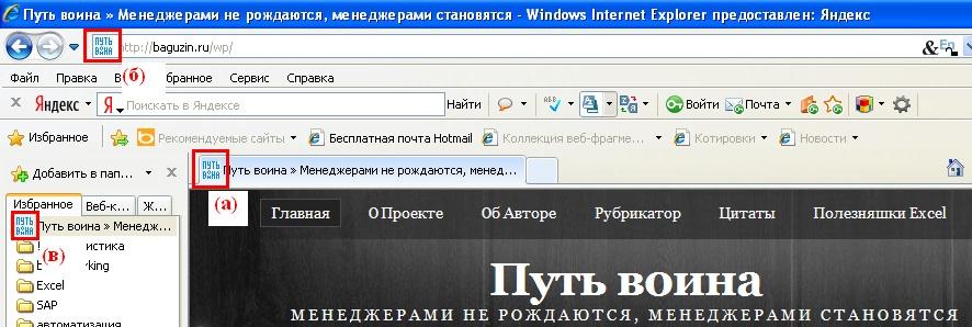 01. Otobrazhenie ikonok v Internet Explorer