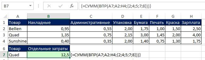 Рис. 7.32. Ввод формулы требует нажатия Ctrl+Shift+Enter