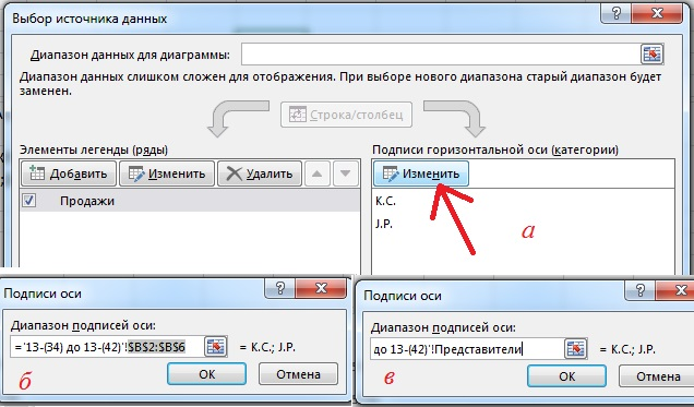 Рис. 13.40. Кликните на кнопку Изменить в правой части окна Выбор исчтоника данных
