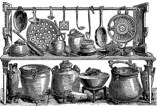 Рис. 10. Кухонная утварь из Помпеи