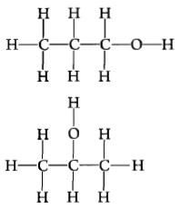 Рис. 6.  Два изомера пропилового алкоголя