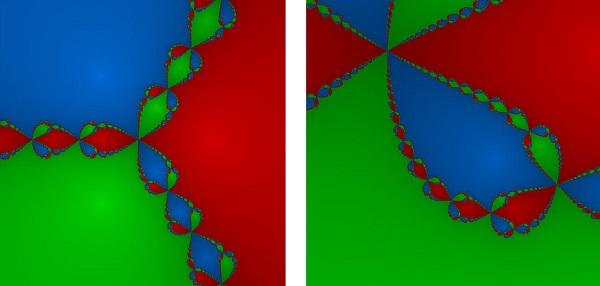 Рис. 7. Фрактальная структура, полученная Хаббардом при решении уравнений методом Ньютона