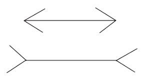 Рис. 3. Иллюзия Мюллера-Лайера