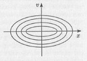 Рис. 5.5. Фазовый портрет гармонического осциллятора