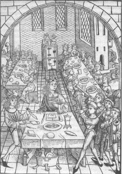 Рис. 2. Средневековый пир