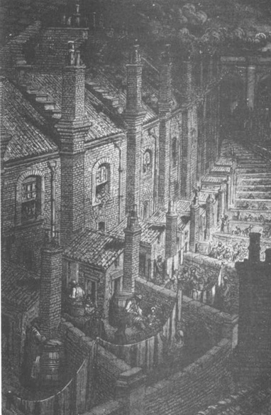 Рис. 3. Закоулки викторианского Лондона, гравюра Гюстава Доре