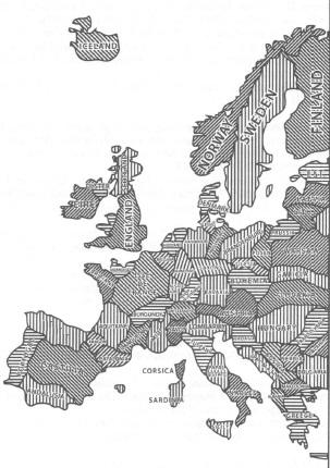 Рис. 2. Удачная федерация на основе границ малых государств
