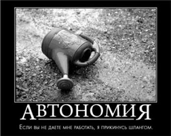Рис. 2. Мотиватор Автономия
