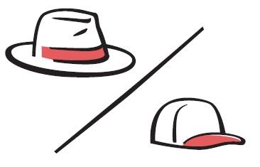 Рис. 21. Большая шляпа – маленькая шляпка