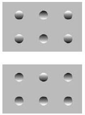 Рис. 8а. Иллюзия с костяшками домино