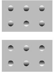 Рис. 8. Иллюзия с костяшками домино