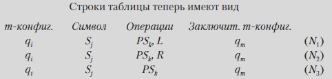 Рис. 11. Таблица с тремя строками стандартного вида