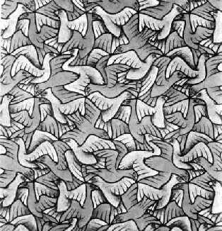 Рис. 7. Эшер. Деление пространства при помощи птиц