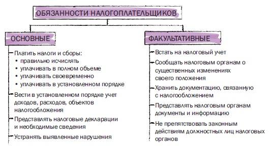 Рис. 11. Обязанности налогоплательщиков