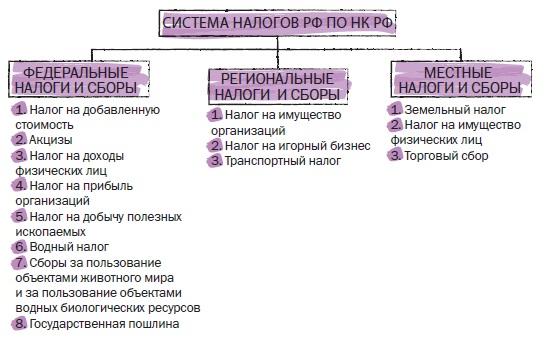 Рис. 14. Система налогов РФ