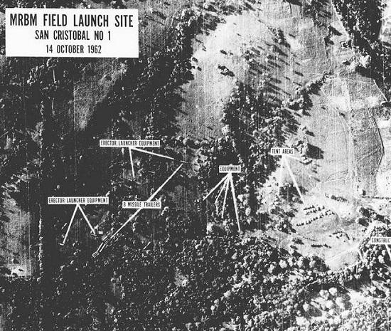 Рис. 9. Аэрофотосъемка кубинской территории, сделанная с американского самолета-разведчика