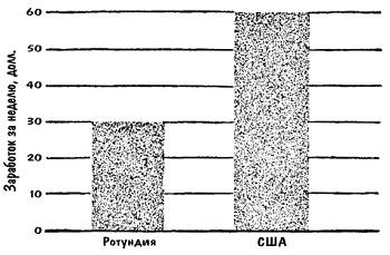 Рис. 6. Столбиковая диаграмма (гистограмма) «честно» отражает 2-кратное превосходство