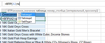 Рис. 6.21. Автозаполнение предлагает варианты, включая именованный диапазон