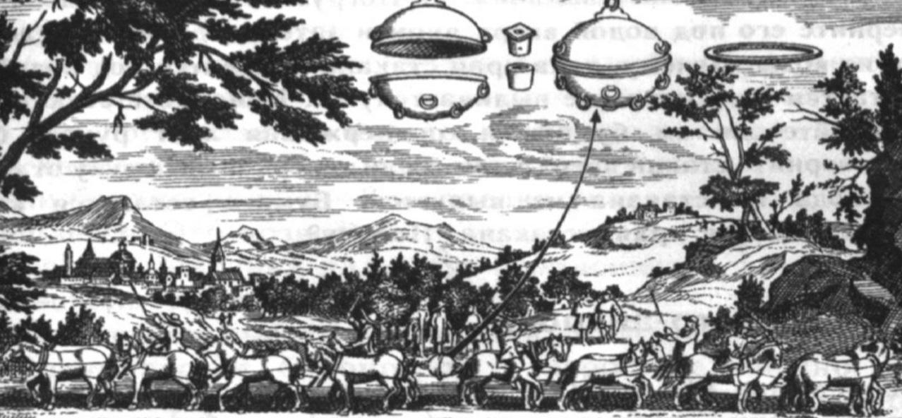 13. Опыт с магдебургскими полушариями