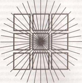 Рис. 7. Один из вариантов иллюзии Орбисона