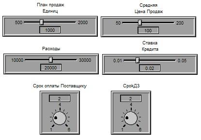 Рис. 3. Блок введения первичных данных