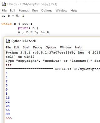 Рис. 5. Код, генерирующий числа Фибоначчи