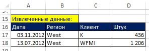 Рис. 15.2. Результат фильтрации по трем И критериям