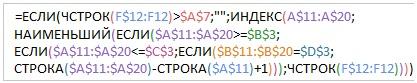 Рис. 15.31. Используйте функцию ЕСЛИ для скрытия значений ошибок