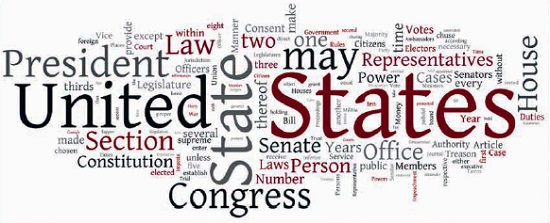 Рис. 5. Текстовое облако из слов Конституции США