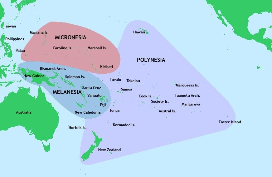 Рис. 2. Полинезийские острова