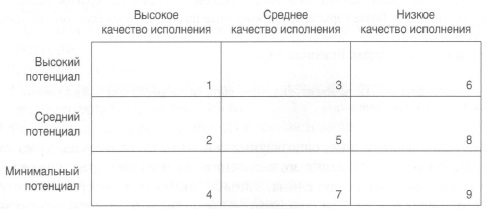 Рис. 5. Матрица потенциала эффективности