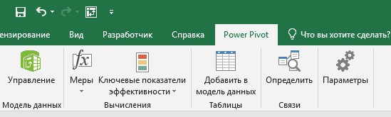 Ris. 3. Vkladka Power Pivot
