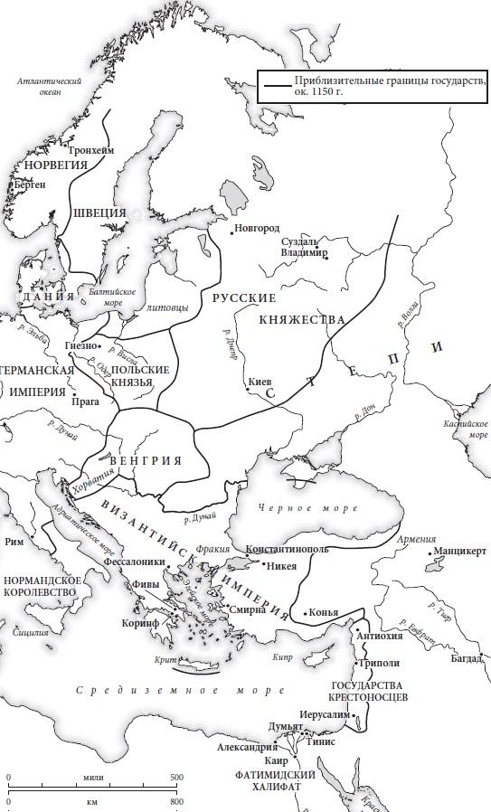 Ris. 5. Vostochnaya Evropa v 1150 g