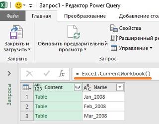 Ris. 5.1. Dostupnye Tablitsy v okne redaktora Power Query