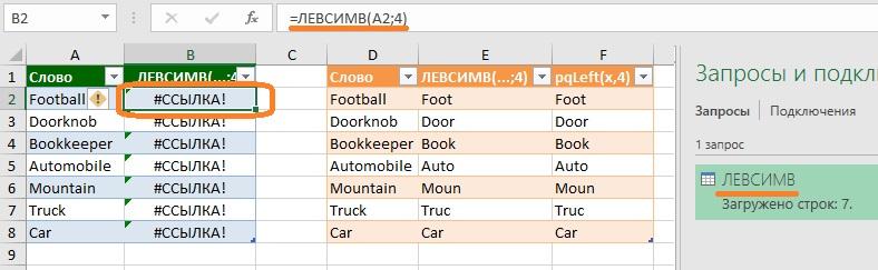 Ris. 17.10. Ne davajte zaprosam imena sovpadayushhie s imenami funktsij Excel