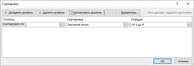 Ris. 6.4. Dialogovoe okno Sortirovka dlya polzovatelskoj sortirovki